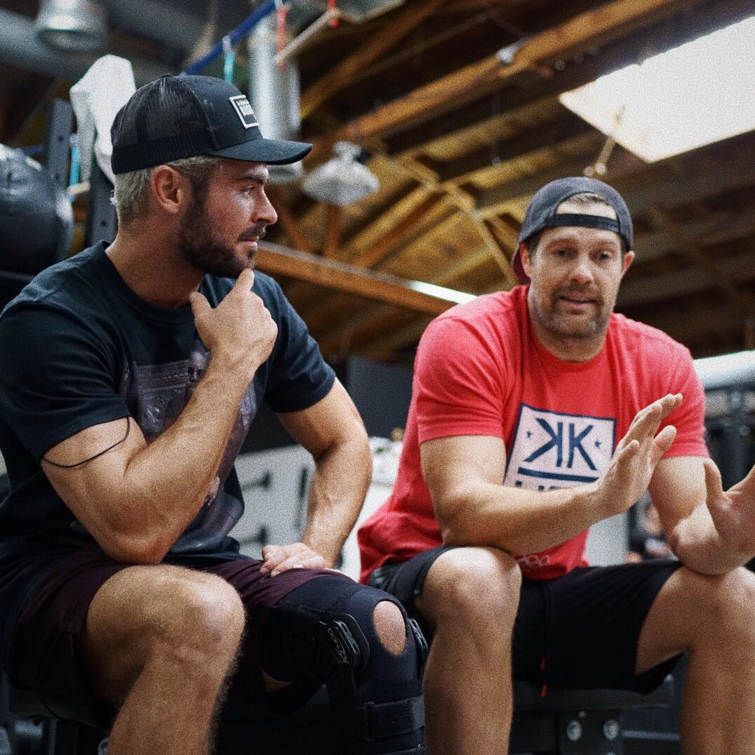 New Gym Time w/ actor and close friend @geoffstults. We swap stories and laugh a lot ????. https://t.co/Cs45cBkMYl https://t.co/Jq0FdQTBa6