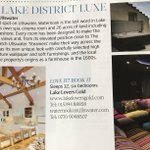 RT @Waternook: Thrilled to be listed in the Home Interiors @CumbriaLifeMag https://t.co/M37WODm5oZ