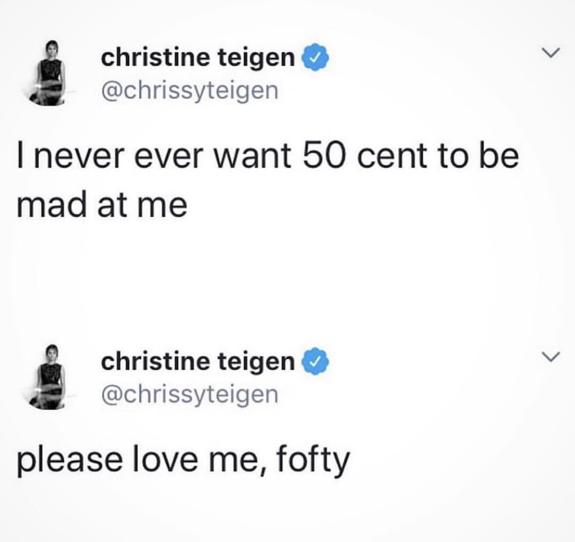 ????I love you @chrissyteigen & @johnlegend , these people just keep trying me. #lecheminduroi #bransoncognac #fofty https://t.co/UszyprcyV2