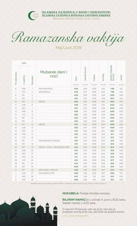 test Twitter Media - Ramazan (رمضان, Ramaḍān) je deveti mjesec u islamskom kalendaru. To je za muslimane sveti mjesec jer je u njemu počela Objave Kurana, u mubarek noći Kadra. U tijeku ramazana muslimanima je zabranjeno ratovanje, a strogo naređen post. Prva teravija 5. maja Prvi dan posta 6. maja https://t.co/iXvXvCeMdS