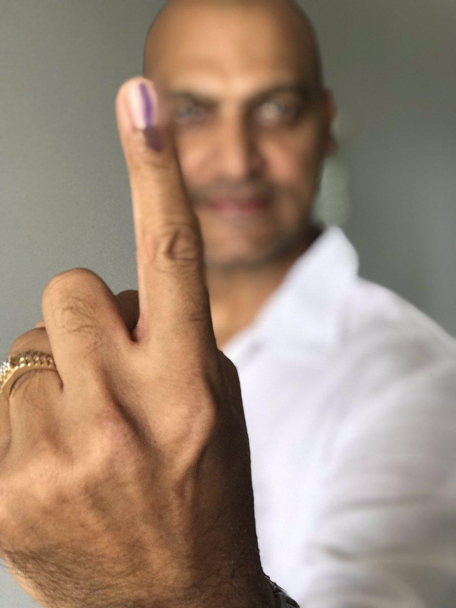 Today nothing is Important than 'Voting'.   #India #Vote #IndianElections2019 #LokSabhaElection2019 #VoteKarMumbai #voteforbetterindia https://t.co/QvJ6uLHEZp