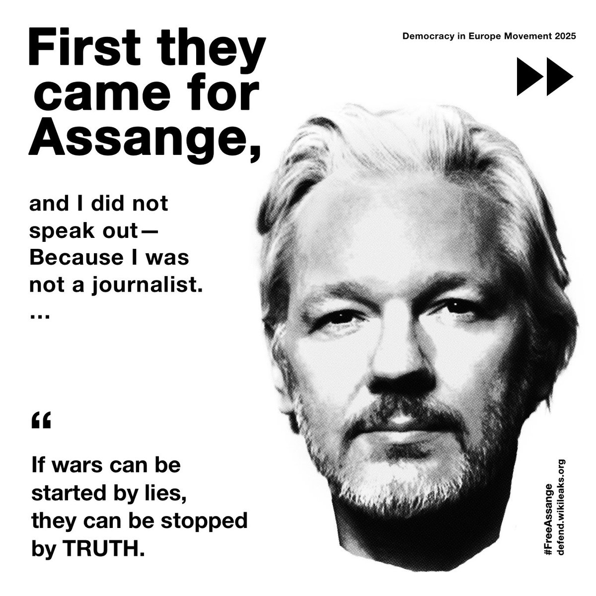 First they came for Assange ... https://t.co/MESxAjE3wz