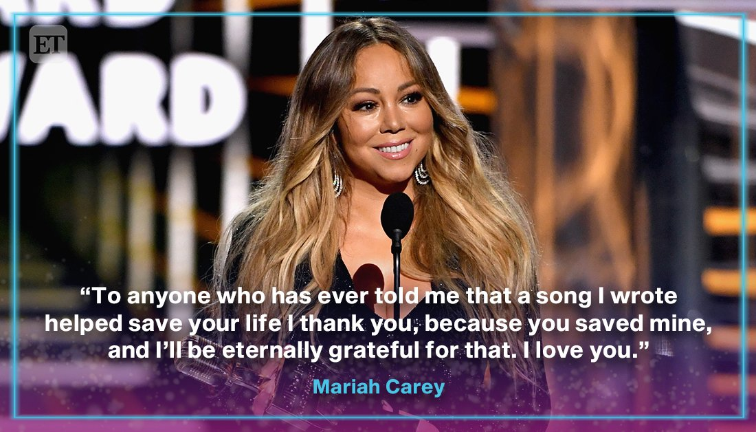 RT @etnow: Mariah Carey left us with an uplifting and inspiring message at the #BBMAs https://t.co/OkWDa5YaFy