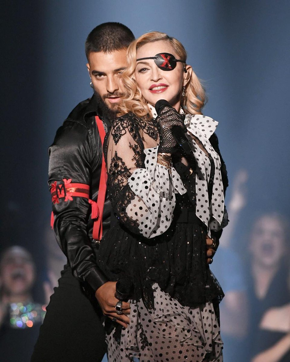 Madame ❌ on stage performing with her favourite Papi......... thank you @maluma ????????????????????#BBMAs https://t.co/BPGHbqadcF