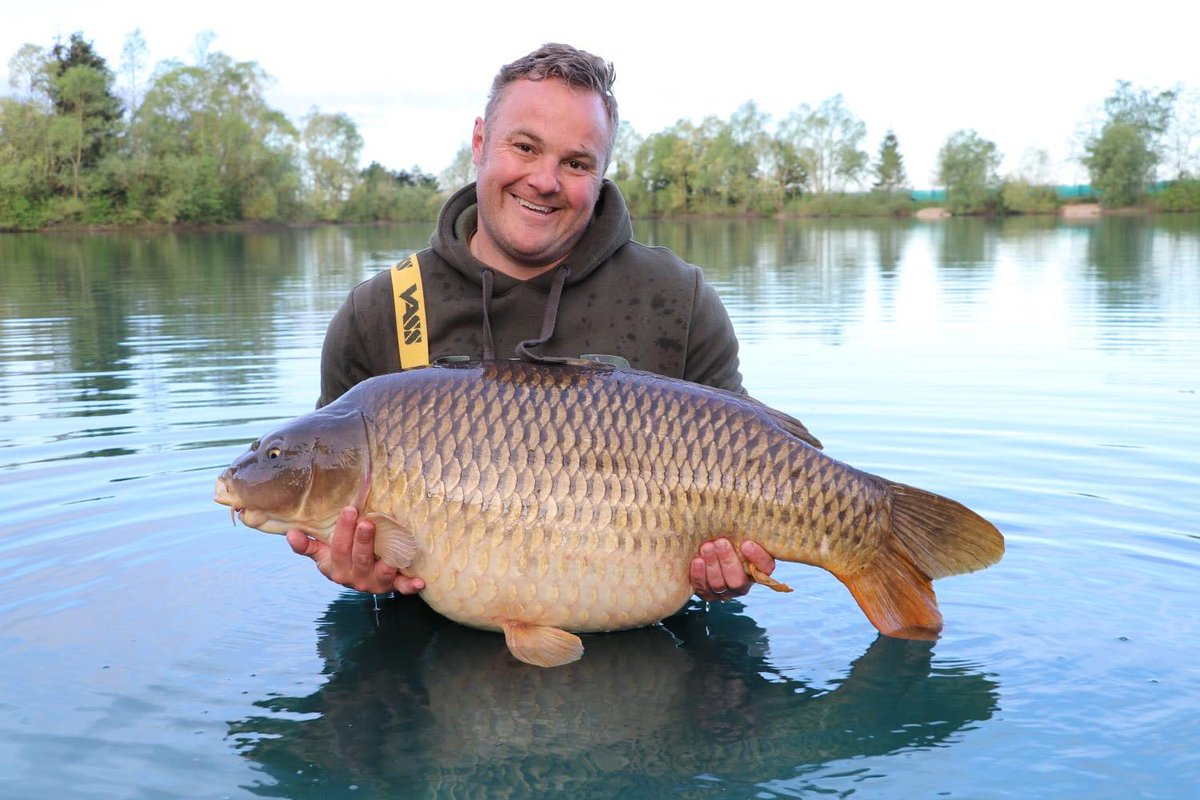 New Pb common 57.8 for James, caught on a recent trip to France. #carpfishing #<b>Fishinglife</b> #v