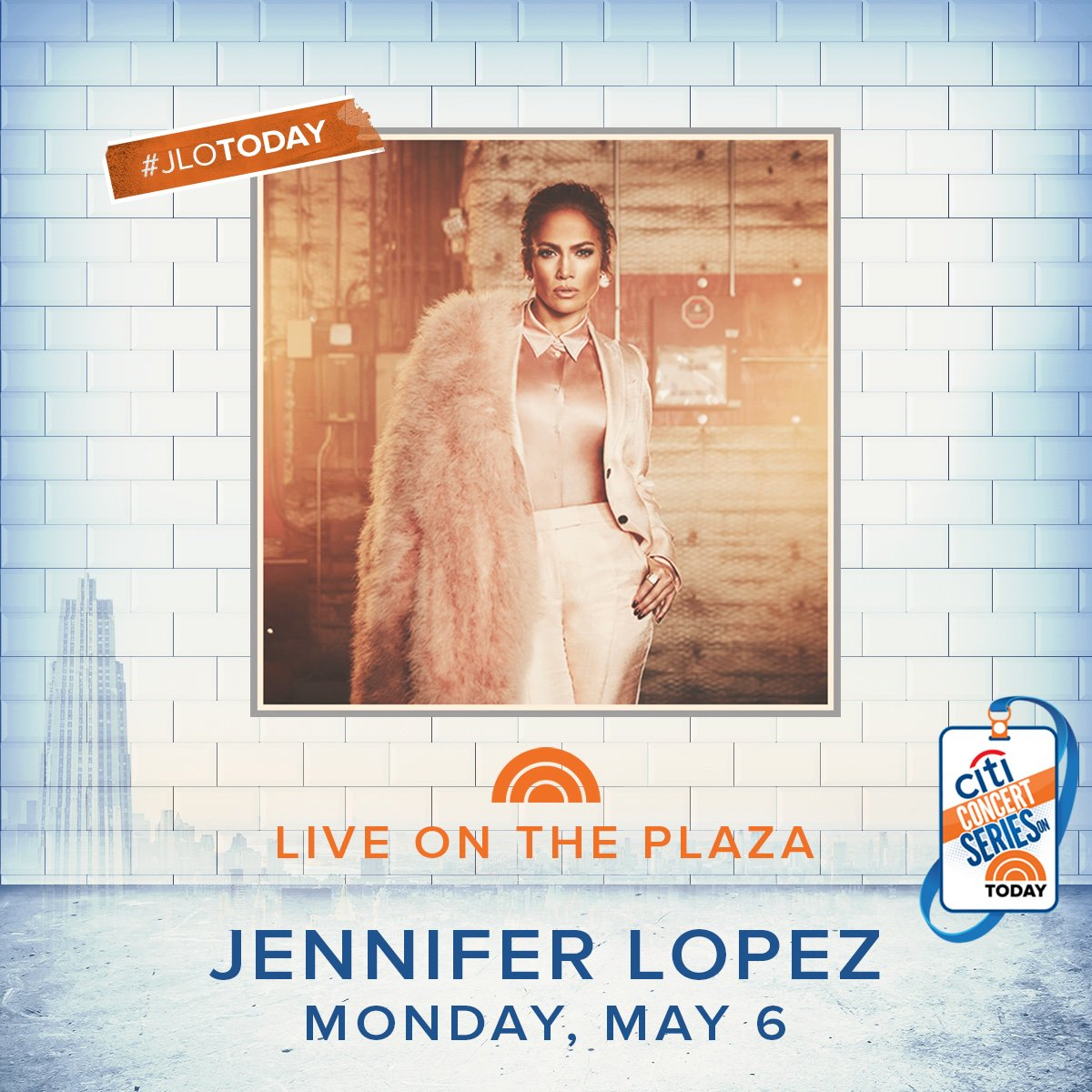 This Monday I'm LIVE on the plaza!!!✨#JLoToday @TODAYshow https://t.co/WjCZTDGq4D
