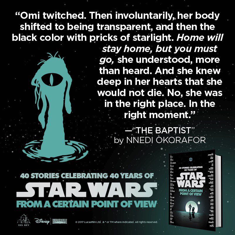 It's Star Wars Day. Reminder: The dianoga in a New Hope has an origin story and I wrote it. 😊 #MayThe4thBeWithYou https://t.co/sgVg2OWQFU