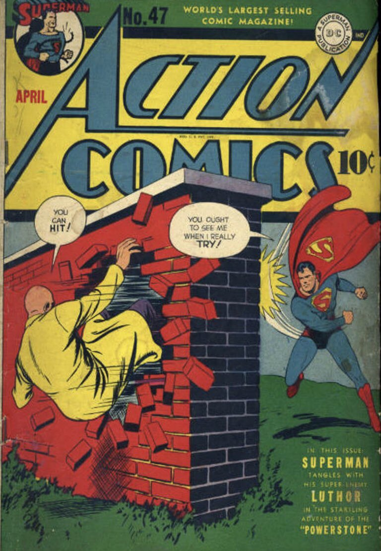 The first comic cover with Lex Luthor on it, Action Comics #47 (April 1942). Cover art by Fred Ray. #Supergirl @TheCWSupergirl https://t.co/9NRbrdSJIz