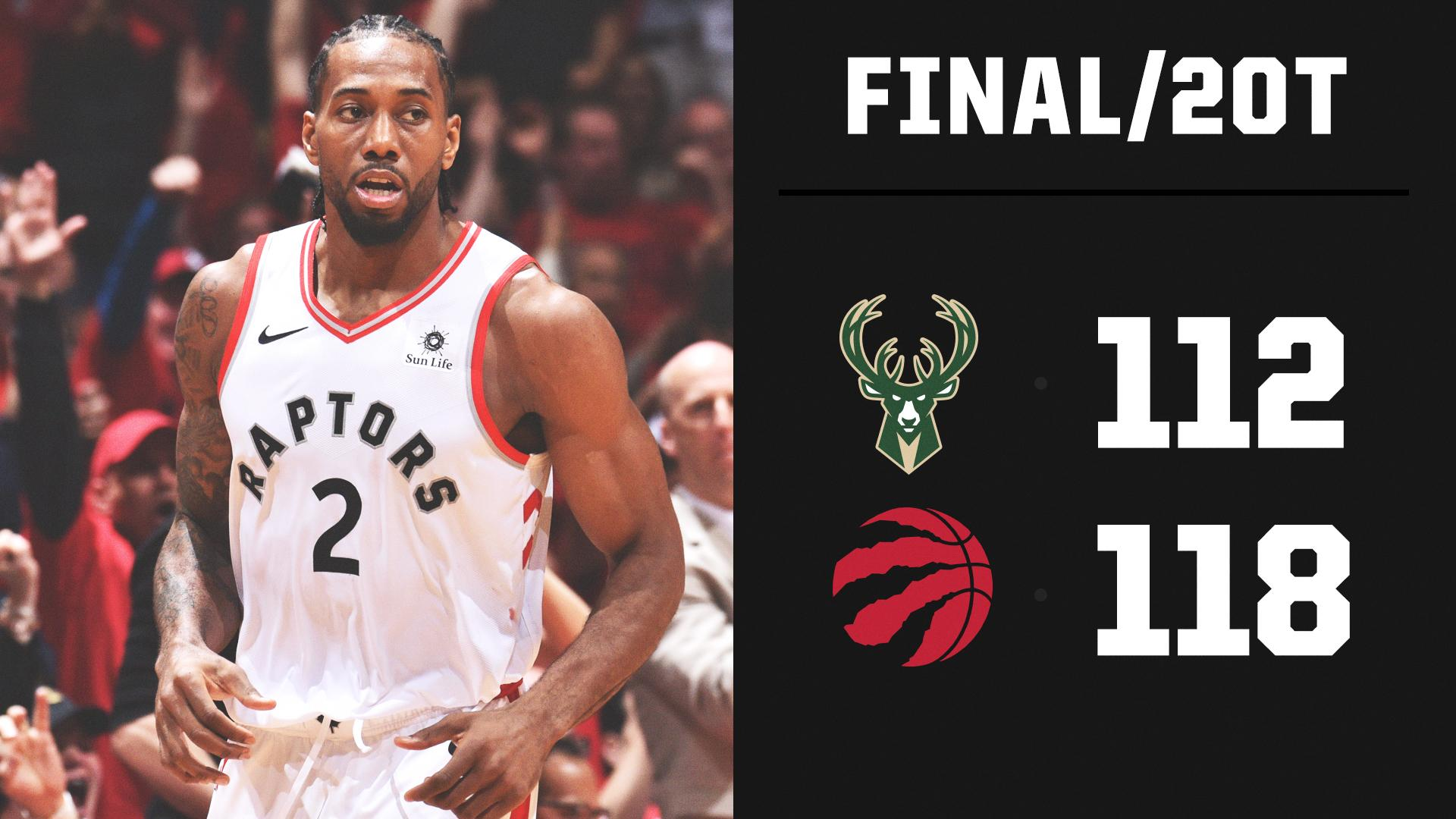 GAME 3 THRILLER!  Toronto survives at home in 2OT for its first win of the series. https://t.co/avTCSnqs7U