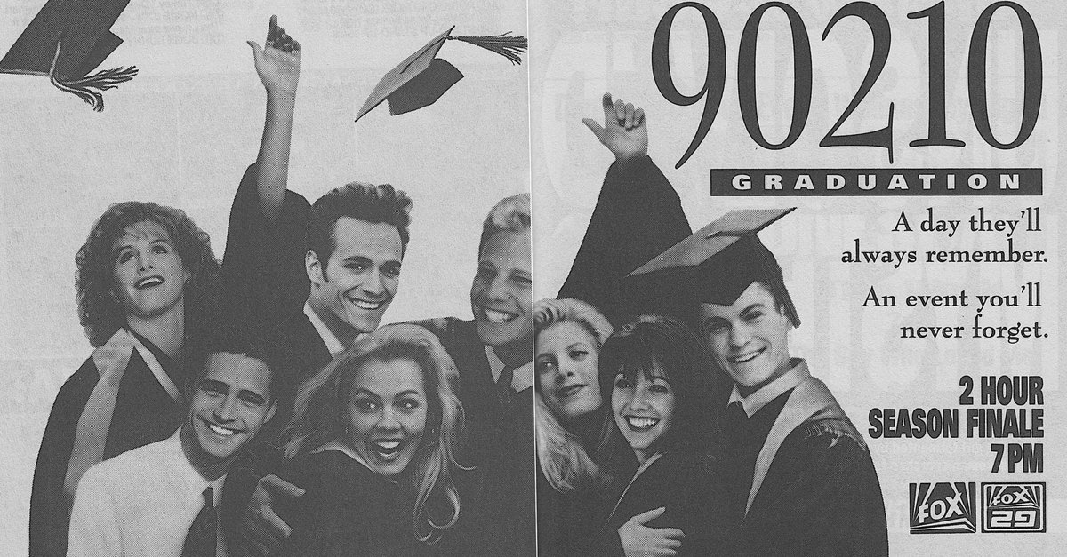 RT @RetroNewsNow: 🎓Fox Primetime, May 19, 1993: — It's graduation day on 'Beverly Hills, 90210' https://t.co/ulEUXrpPdo