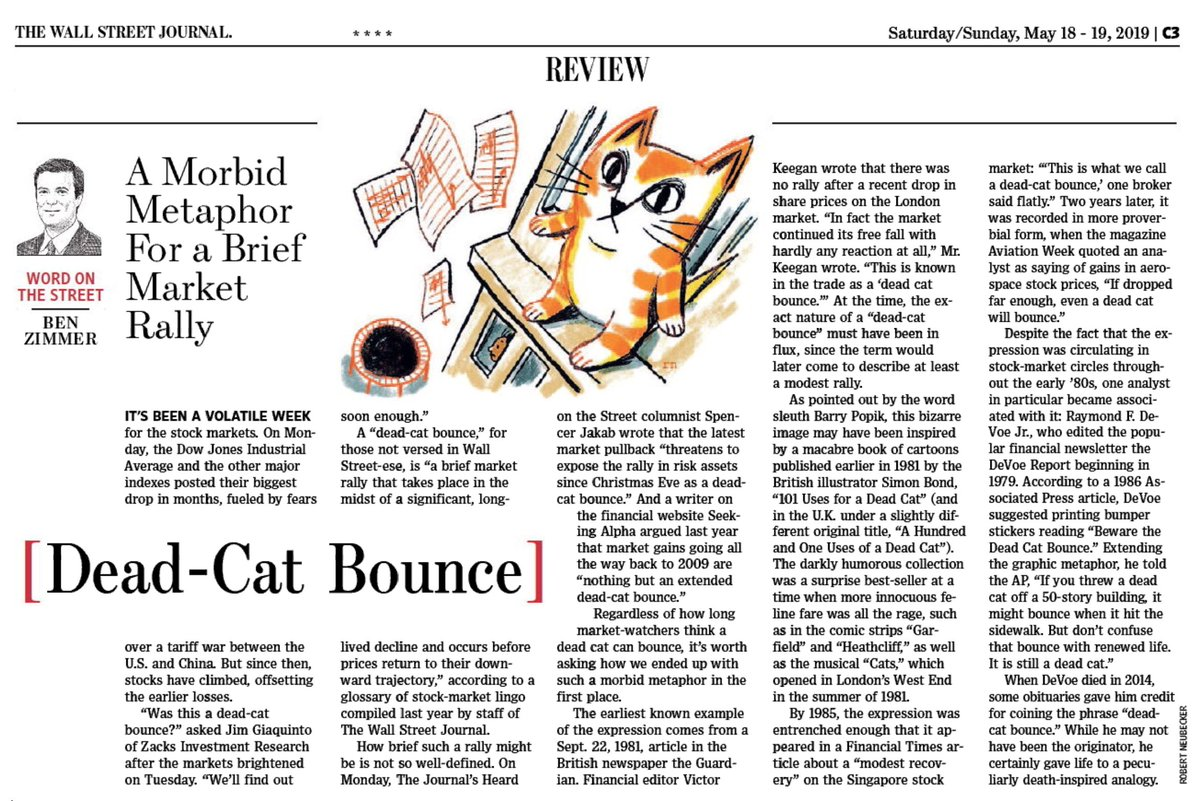 "test Twitter Media - In this week's @WSJ Review section, I investigate one of Wall Street's most bizarre metaphors, the ""dead-cat bounce."" https://t.co/l1gigOjnCF https://t.co/N2bzSrt1AU"