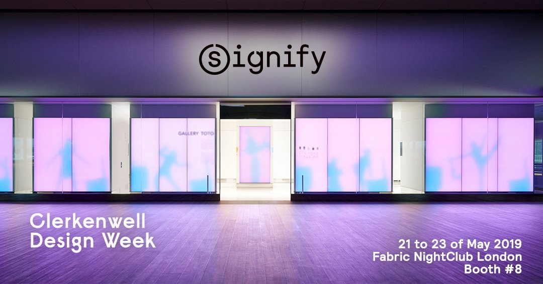 Catch me next week in London at the @CDWfestival where I will be with @Signifycompany talking about the story of @LuminousTextile #LED panels 💜 https://t.co/8V7CHXocb4
