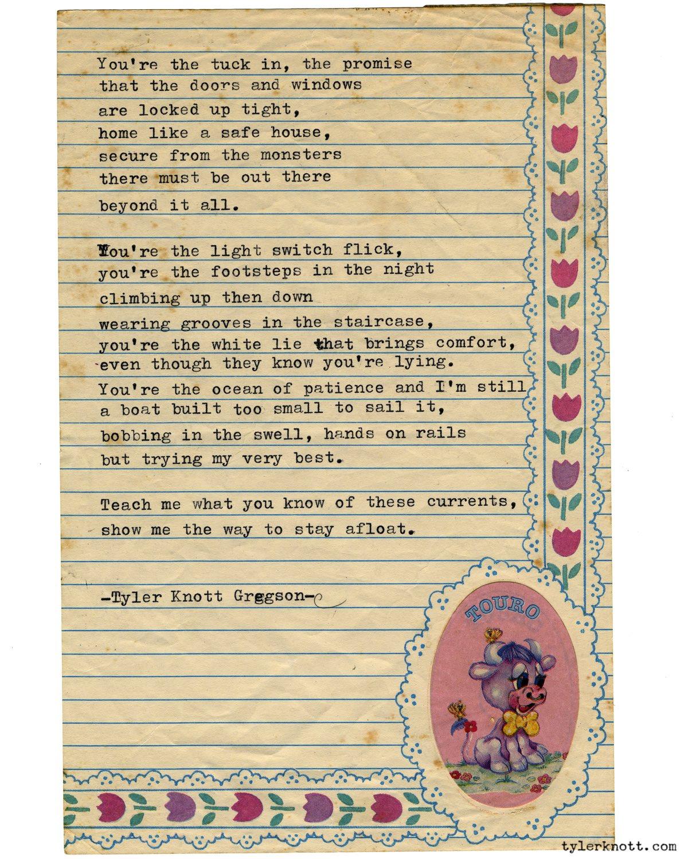 Typewriter Series #2608 by Tyler Knott Gregson https://t.co/YyizcV2spC