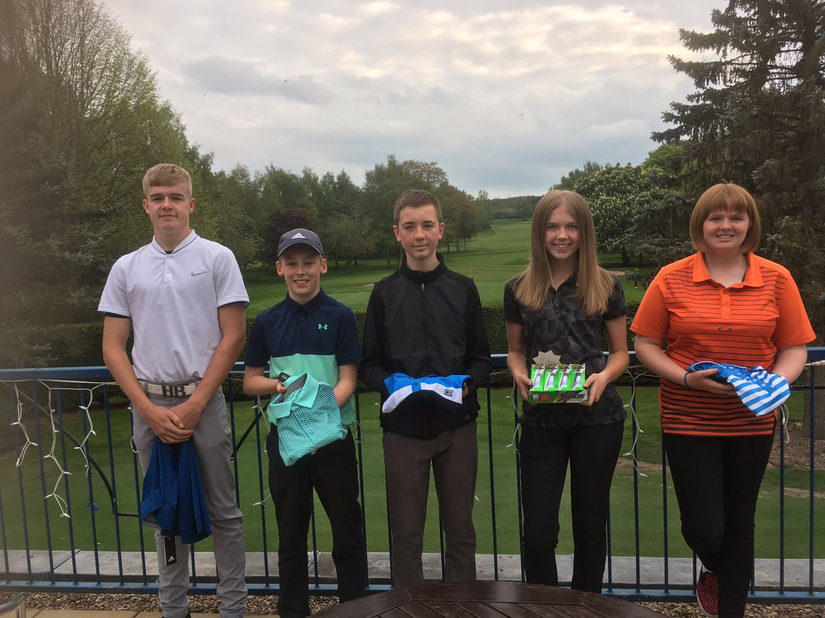 test Twitter Media - What a fantastic Ingestre Junior Open! some brilliant scoring! Congratulations to the winners! (Espcially our Ingestre Girls 😊) left to right - Evvan Wooldridge, Alfie White, Jamie Obee, Chloe Williamson and Caitlin Metcalfe @MidlandsGolfer @GirlsGolfRocks1 @ExpressandStar https://t.co/cKoxhh7rxB