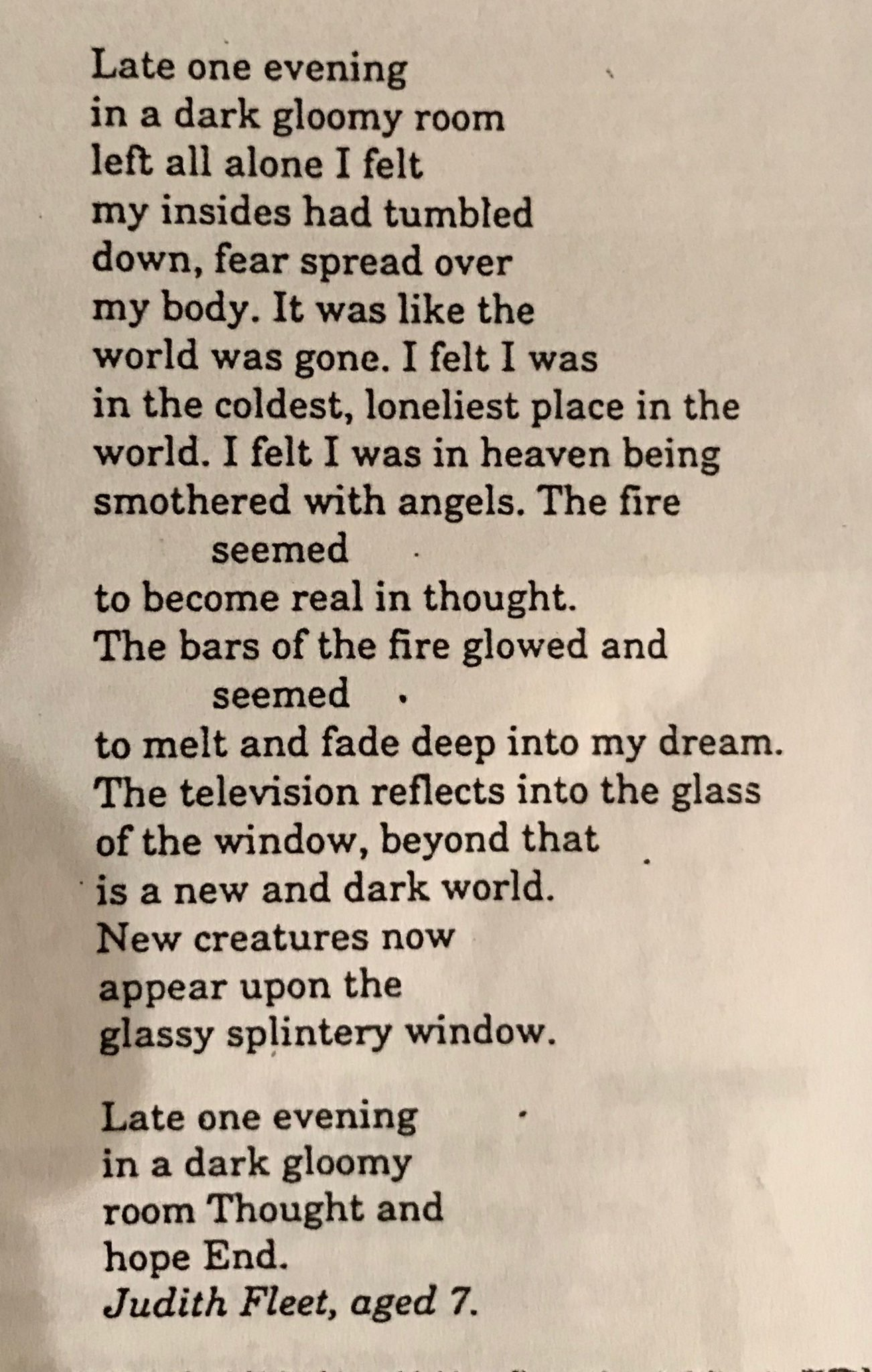 One of the greatest poems a child ever wrote in my class - about 42 years ago in a lesson on silence and loneliness https://t.co/j7QcD8J9Ul