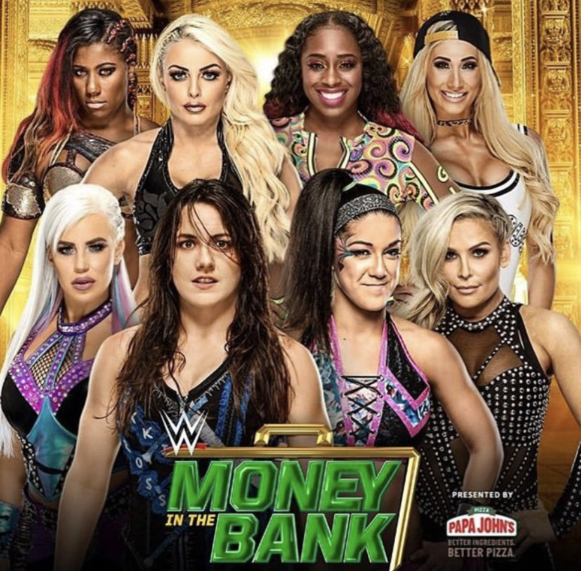 RT @NatbyNature: Tomorrow's gonna be a wild one... sold out in Hartford & three women's matches. Money in the Bank, Baby! Can't wait to win it all....💚 #MITB $ @WWENetwork https://t.co/Z1T00Uxc3L
