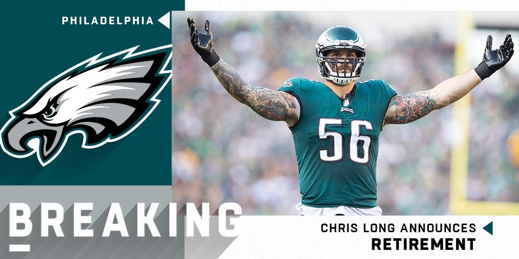 RT @NFL: BREAKING: Chris Long announces retirement after 11 NFL seasons with the @RamsNFL, @Patriots and @Eagles. https://t.co/QFrjmR046p
