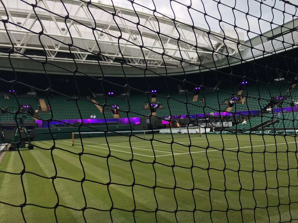 Going to be playing here pretty soon! Court #1 has a roof! #wimbledon #london #tennis https://t.co/hQsC49CWa9