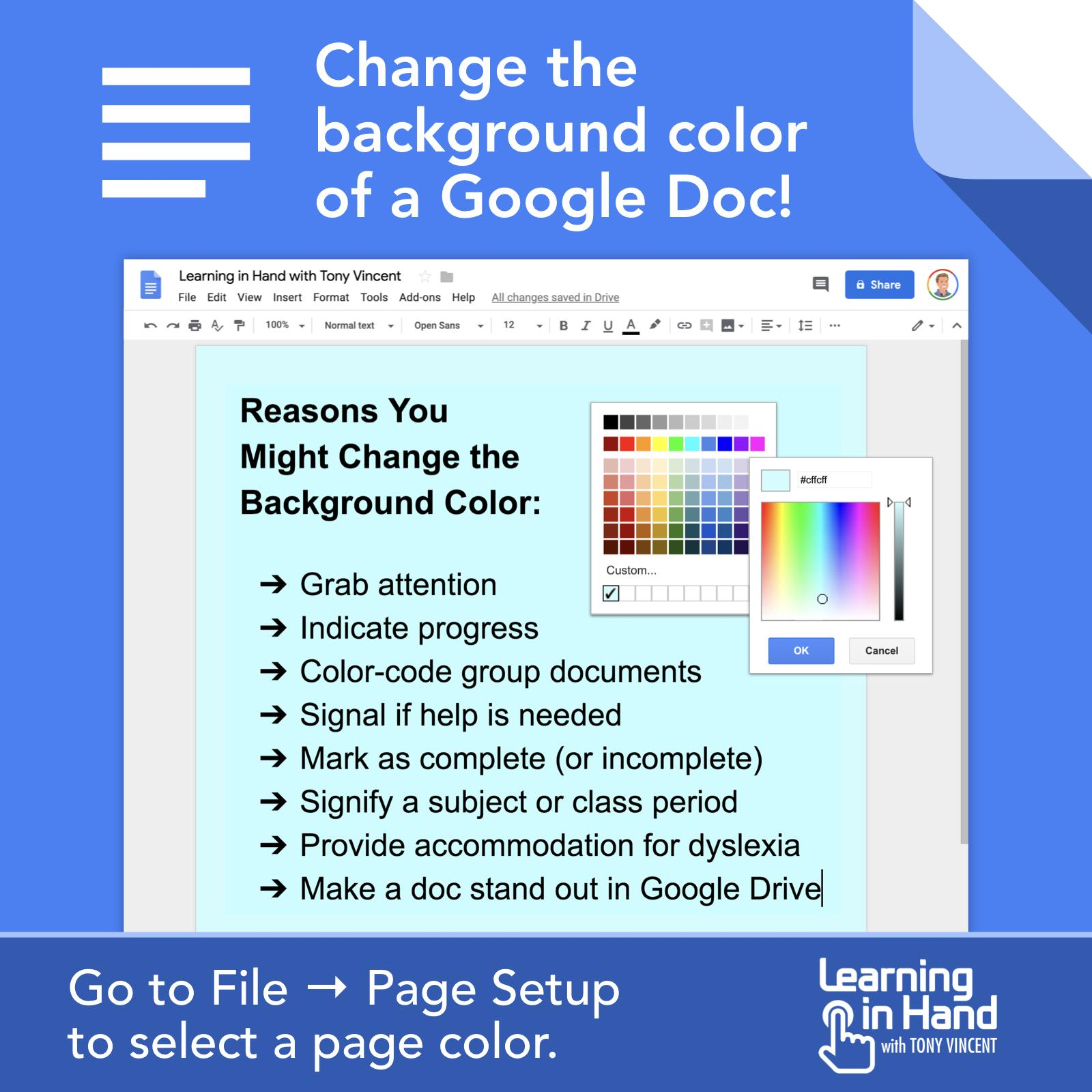 🎨 There are some good reasons teachers and students might change the background color of a Google Doc... https://t.co/5ZQaigqpNX