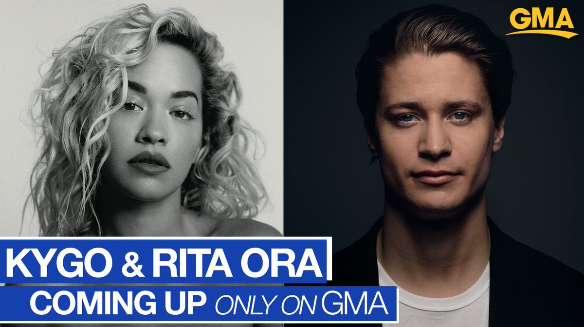 RT @GMA: COMING UP ON @GMA: @RitaOra and @KygoMusic perform for us LIVE!! https://t.co/rC2ErpVsei