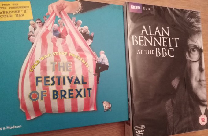 Very happy with a birthday haul of some Alan Bennett DVD\s and the book.