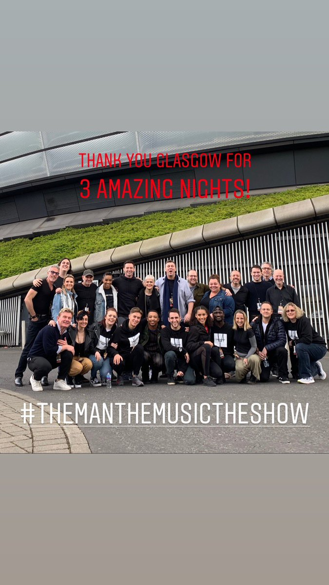 Thank you to all the amazing people of Glasgow. ANTWERP batten down ... we're coming for you! #TheManTheMusicTheShow https://t.co/ZzbNn1MSjM