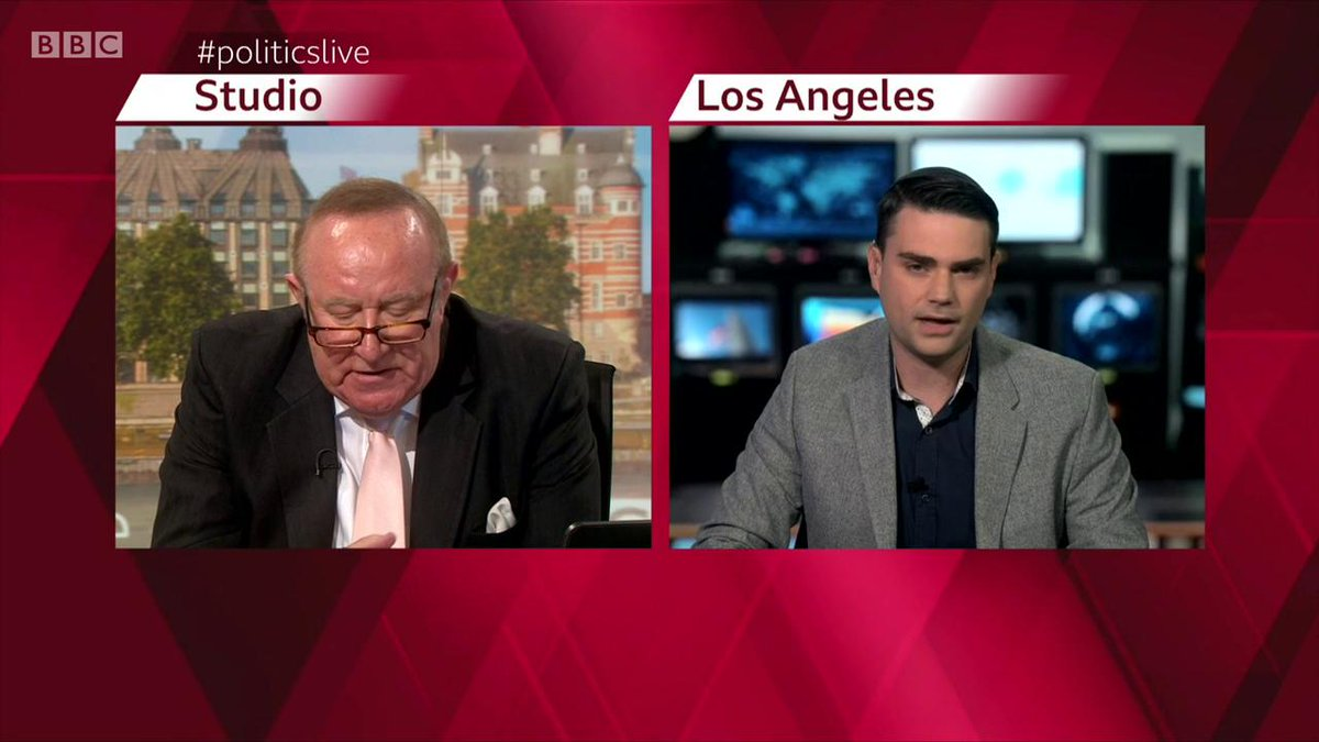 ben shapiro's trending so here again is that time he was totally destroyed on the bbc. and notice how when he's called out on his racism, he immediately lies, expecting to get away with it, as he would have on a US show. but the bbc guy tackled that hack