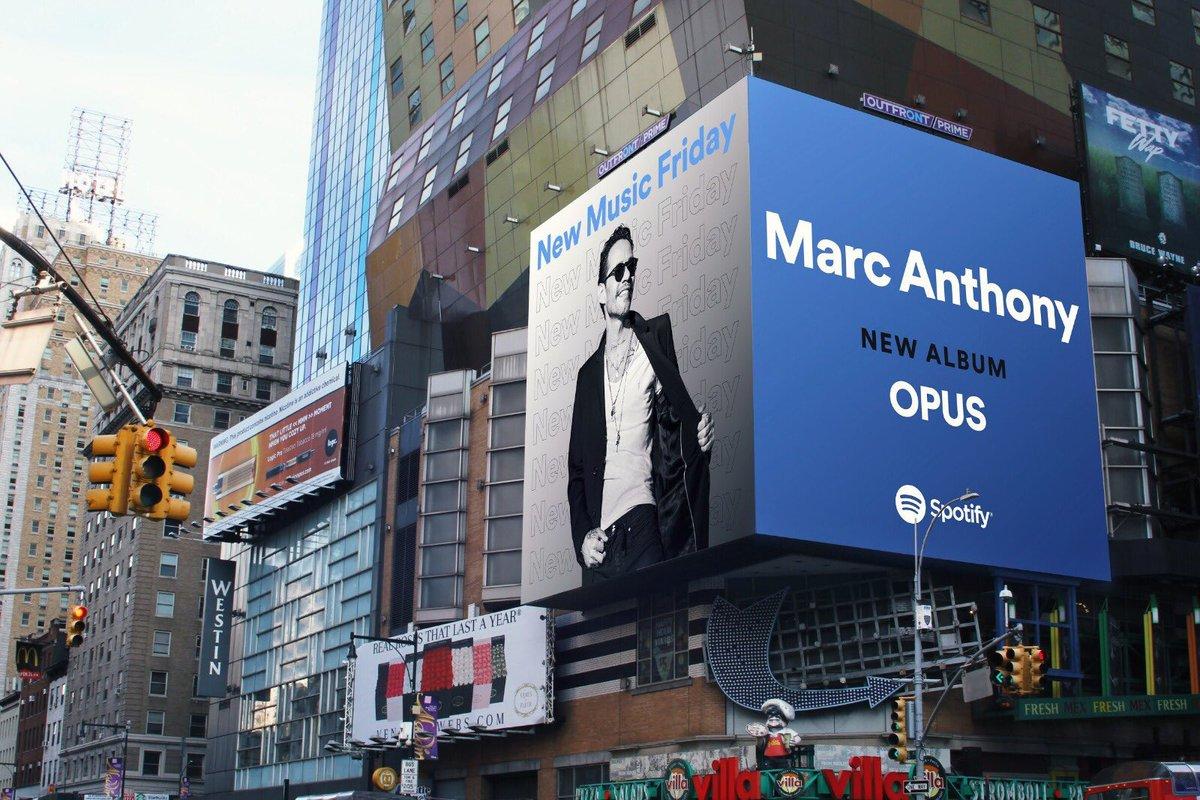 ¡Esto sigue! En Times Square NYC con @SpotifyLatino. ¿Ya guardaron #OPUS en sus colecciones de @Spotify? https://t.co/O7P7nL11WV