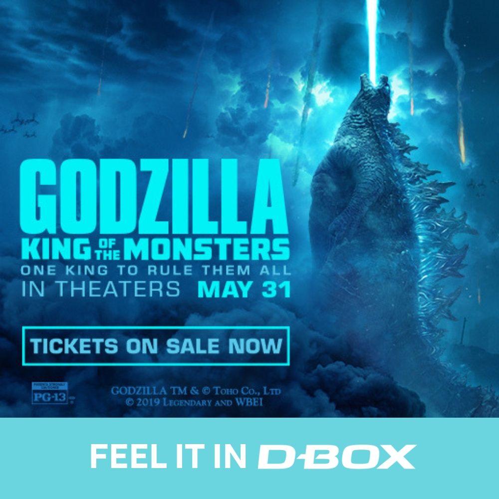 test Twitter Media - Feel every titans of Godzilla: King of the Monsters in #DBOX May 31. Get tickets now: https://t.co/j2rq8RwwUS //  Voyez #Godzilla en #DBOX le 31 mai prochain. Achetez vos billets dès maintenant! https://t.co/BpLFu2yzhE