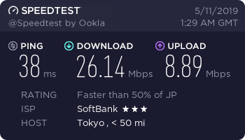 test ツイッターメディア - Fujiwifi simプラン + 603HW Simフリー 2.4GHzで接続 十分な速度で満足 https://t.co/78oCoWtUiY
