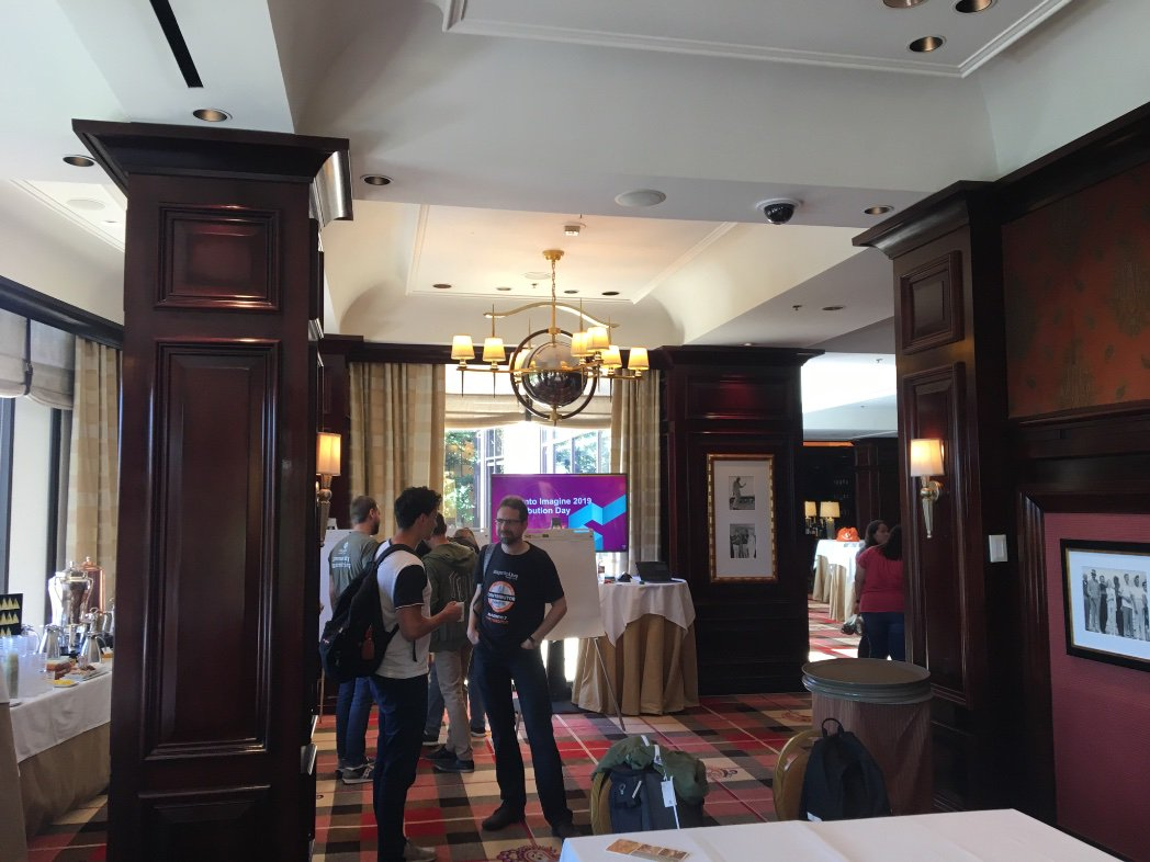 mbalparda: Contribution day is about to start,ncome find us at the Country Club!n#magentoimagine #magento2 https://t.co/WSW0pxkcXy