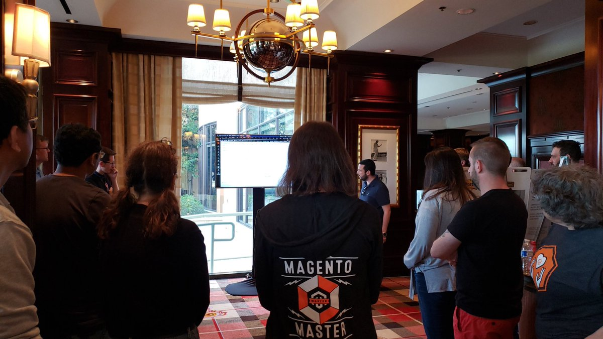 MagentoDevDocs: Incredible talks on security and PRs coming in! #MagentoImagine https://t.co/t3D1NUOvgC