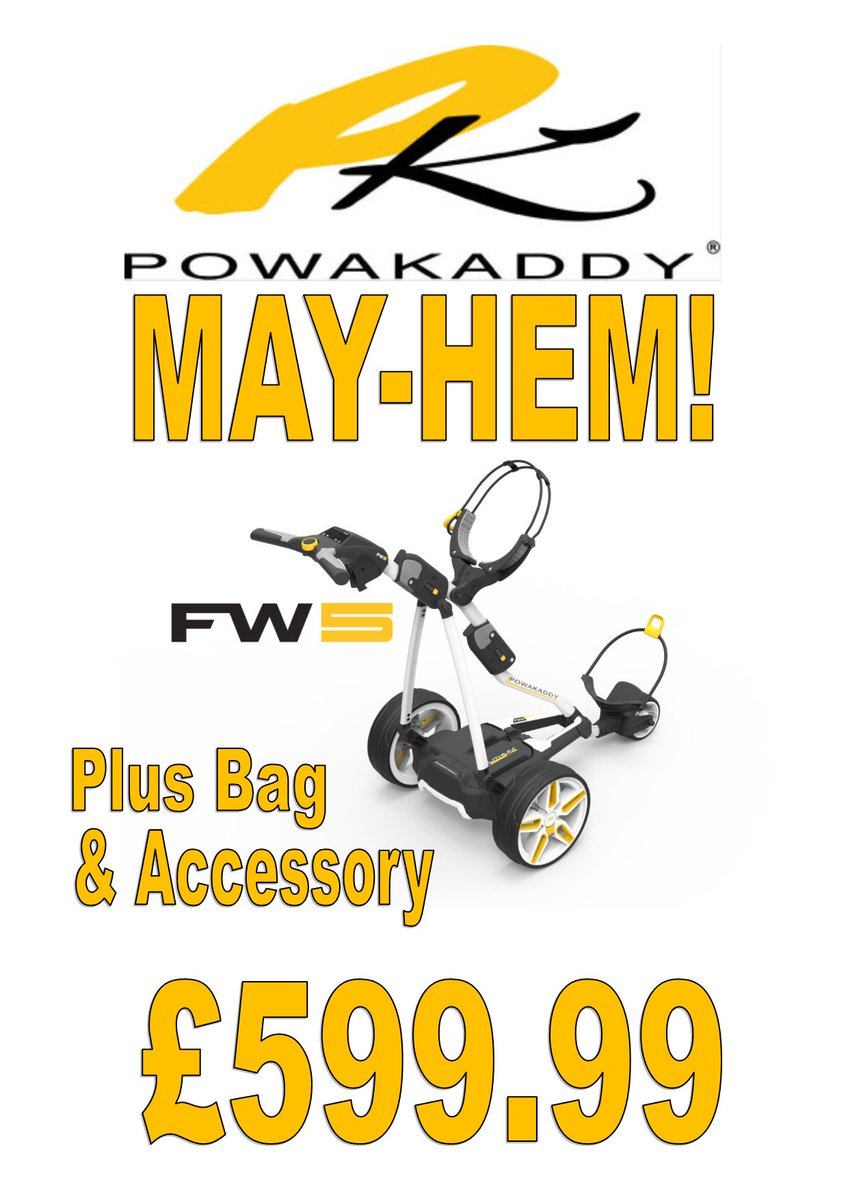 test Twitter Media - Last one left in stock!! Hurry!  @PowaKaddy_Golf FW5 with 18 Hole Lithium Battery Plus Premium Cart Bag & Accessory of your choice.  All for just £599.99! A saving of almost £200!!  Exclusive Limited Offer!  For more details call us on 01446 781781 (opt.1) https://t.co/sjYK8ua007 https://t.co/eOlXmNwtIL