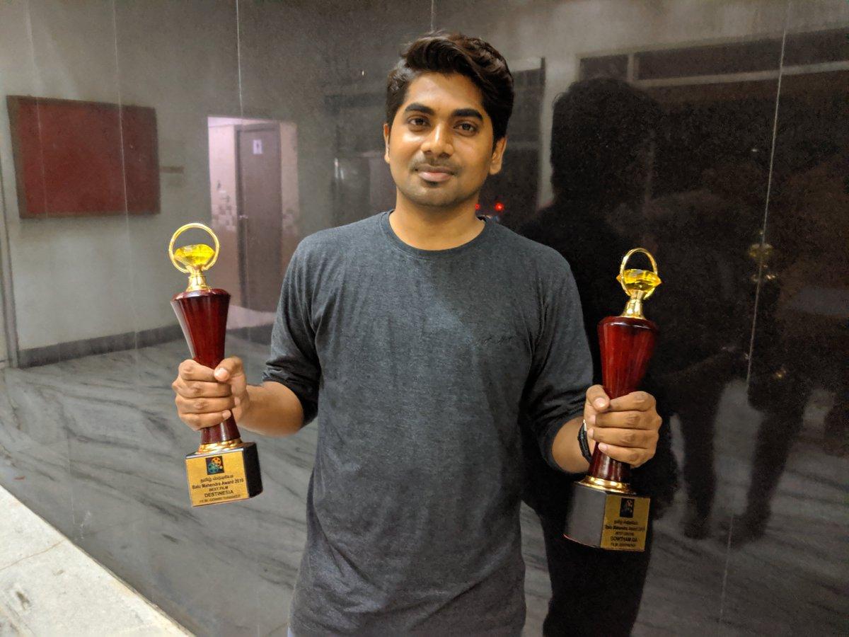 #Destinesia has won, #BestDirector, #BestFilm, #BestEditing in  #BaluMahendra film festival. https://t.co/r7lhurNtNV
