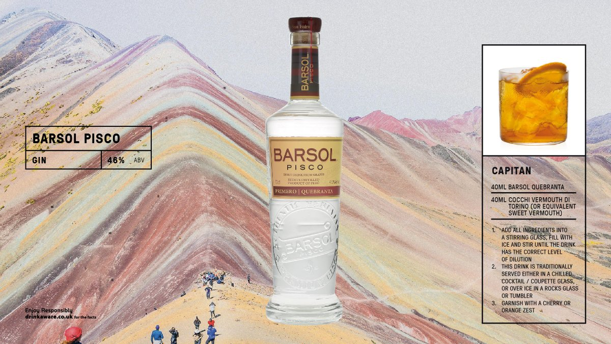 Distilled & bottled in one of the oldest distilleries in the ICA valley, @barsolpisco  Primero Quebranta is produced from the wine resulting from the fermentation of 100% Quebranta grapes from the Ica Valley. #peru #pisco Read more here https://t.co/07CCL2FUBR https://t.co/TM7zGnpW0u