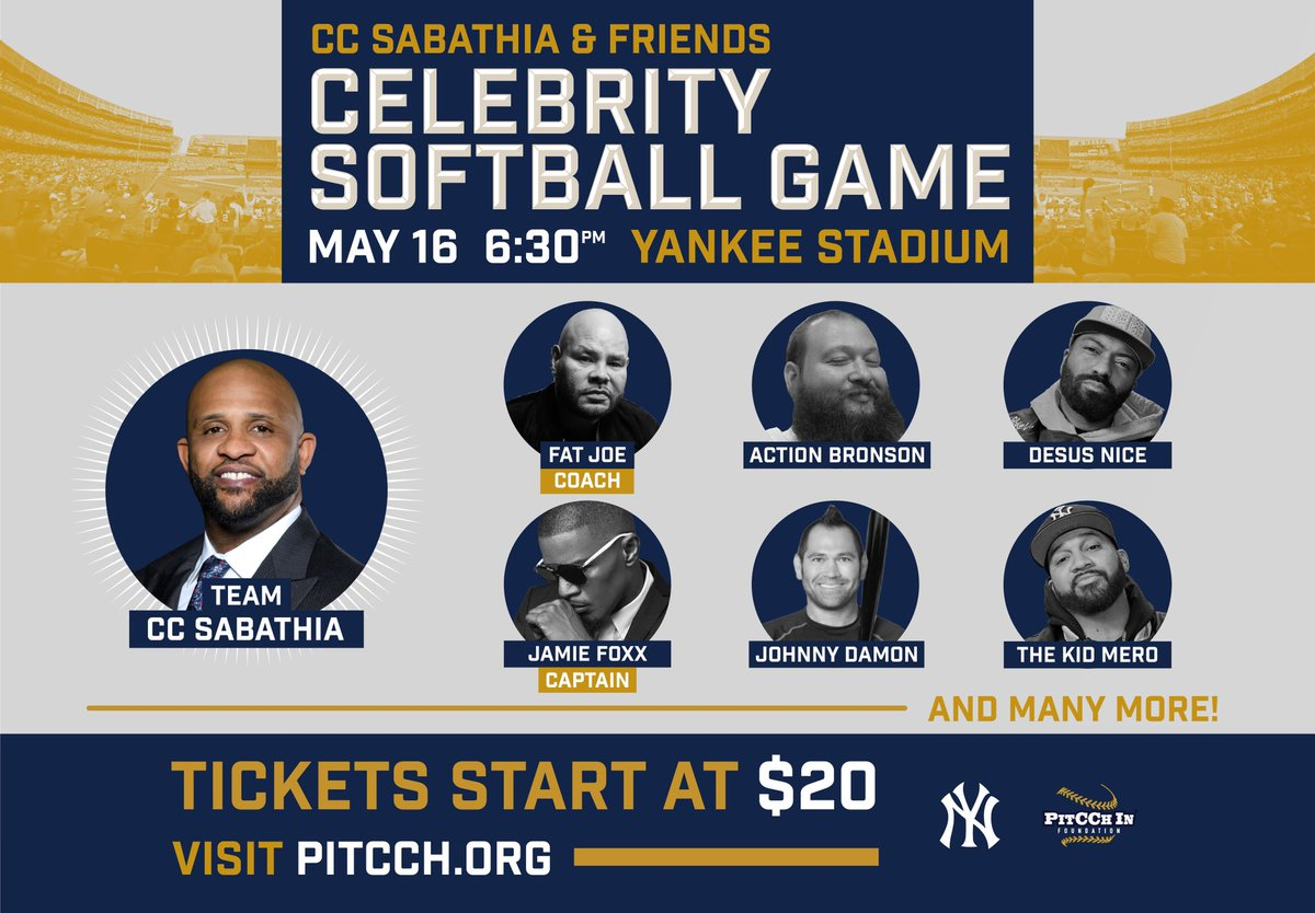 RT @CC_Sabathia: May 16th it's going down‼️ #TeamCC Roll Call ???? https://t.co/Cypcly1dvM https://t.co/JXmuTBfufX