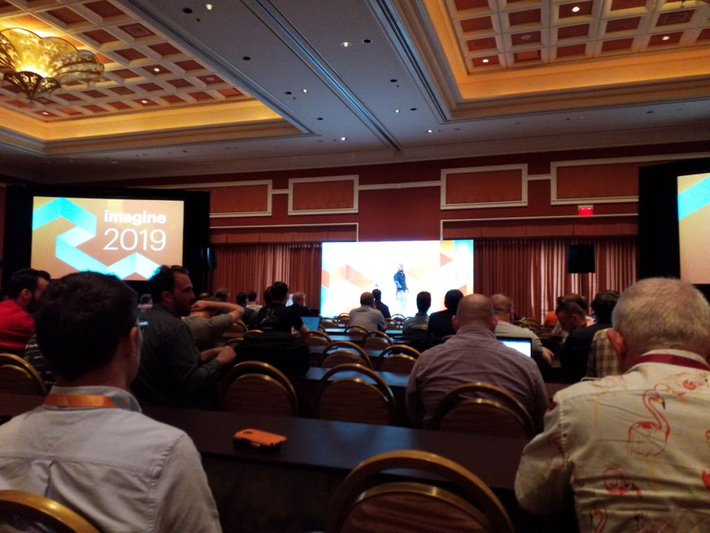 cmuench: Listening to my first technical talk by @_Talesh about #Magento #Security at #MagentoImagine. https://t.co/hAt0Ia4NkT