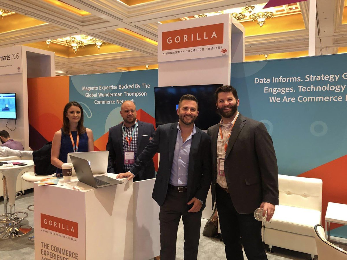WebShopApps: Of course, we had to stop by the @GorillaCommerce booth to pay our respects 👋 #MagentoImagine https://t.co/HecqdZbCXN