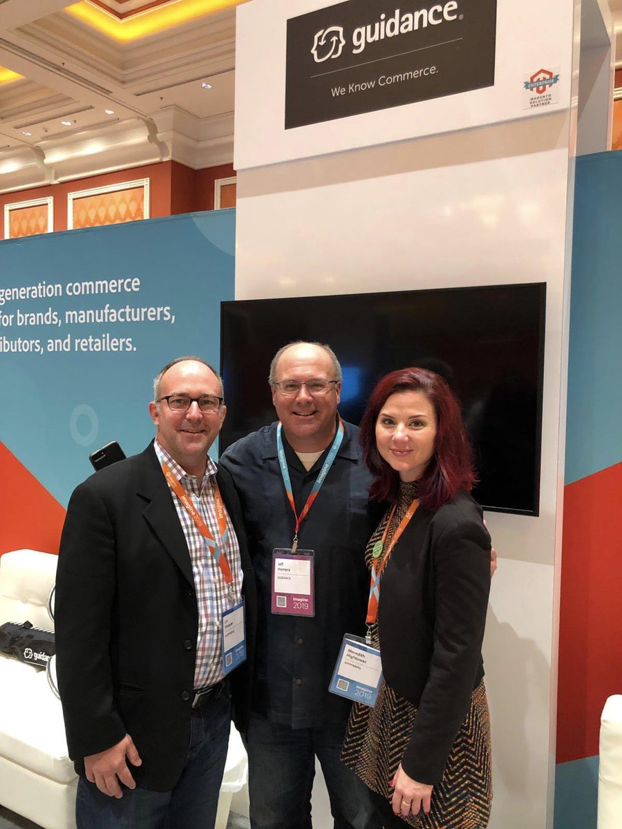 WebShopApps: Oh hello @guidance (plus @meredithightowr @ecommerceguy). So happy to see you here #MagentoImagine https://t.co/6dEOUQ9f5f