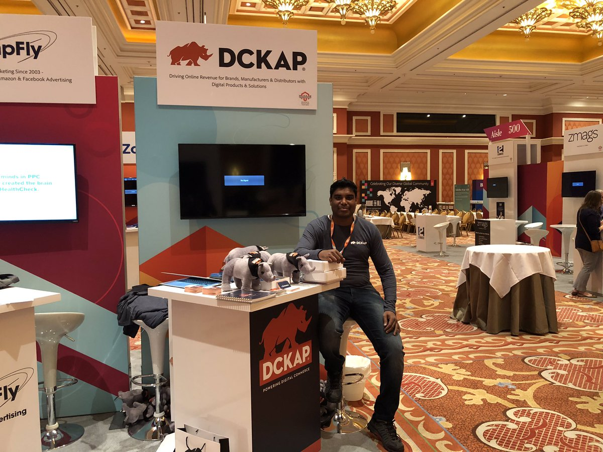 nmohanswe: Setting up the booth at the sponsors marketplace #MagentoImagine https://t.co/C6yAsdPItC