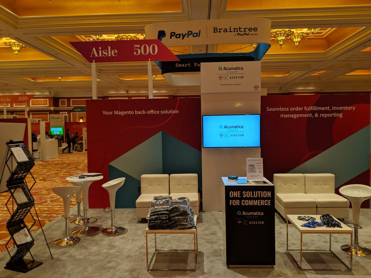 kensium: Come speak to us about integrating @magento to an #ERP. Booth #507, across from the Magento boothnn#MagentoImagine https://t.co/vdPj0Dmlta