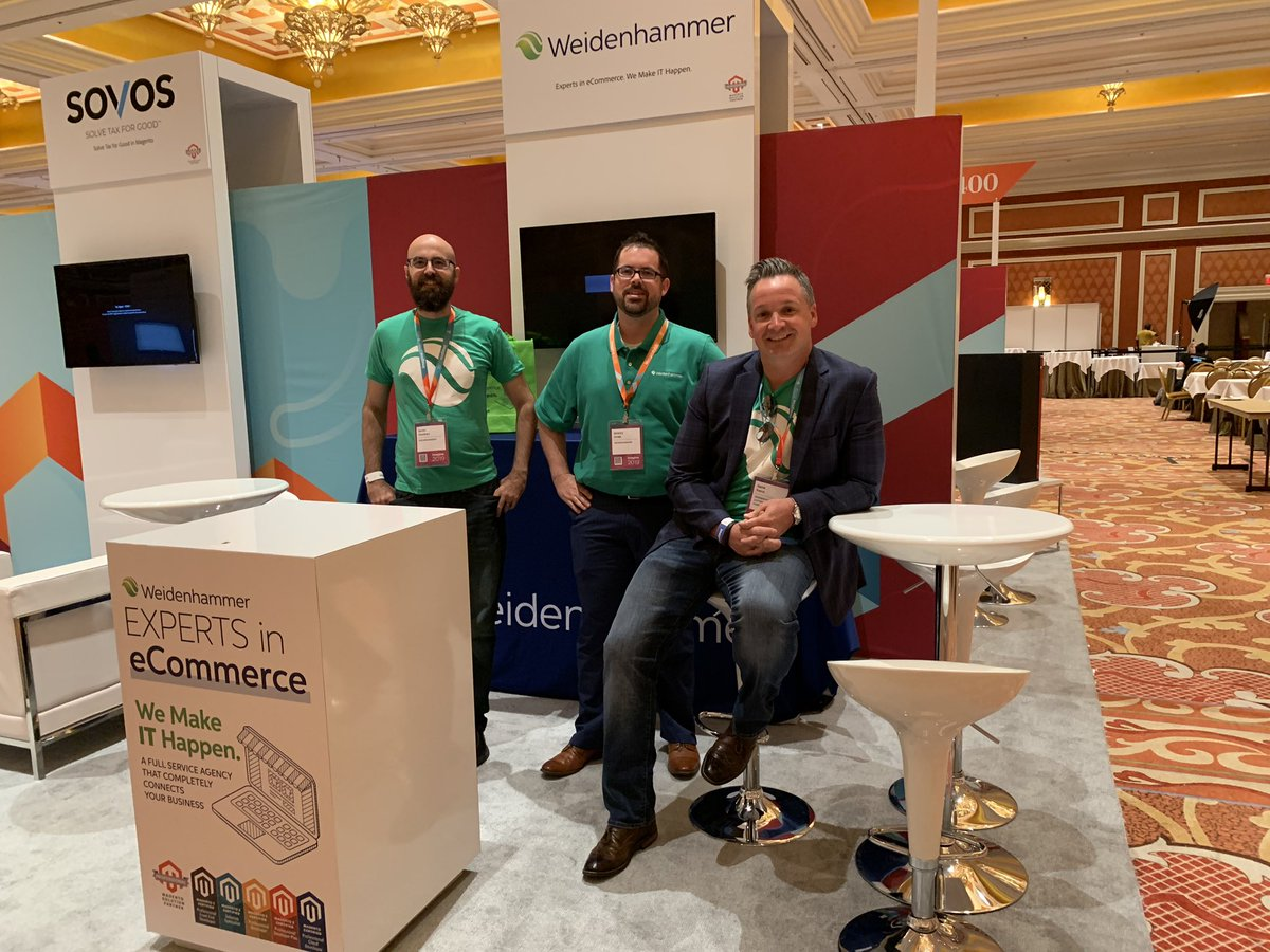 WeidenhammerIT: Less than one hour until Expo doors open! See you all at 10:30am at booth #318 #MagentoImagine #weidenhammer https://t.co/TKQizbagFS