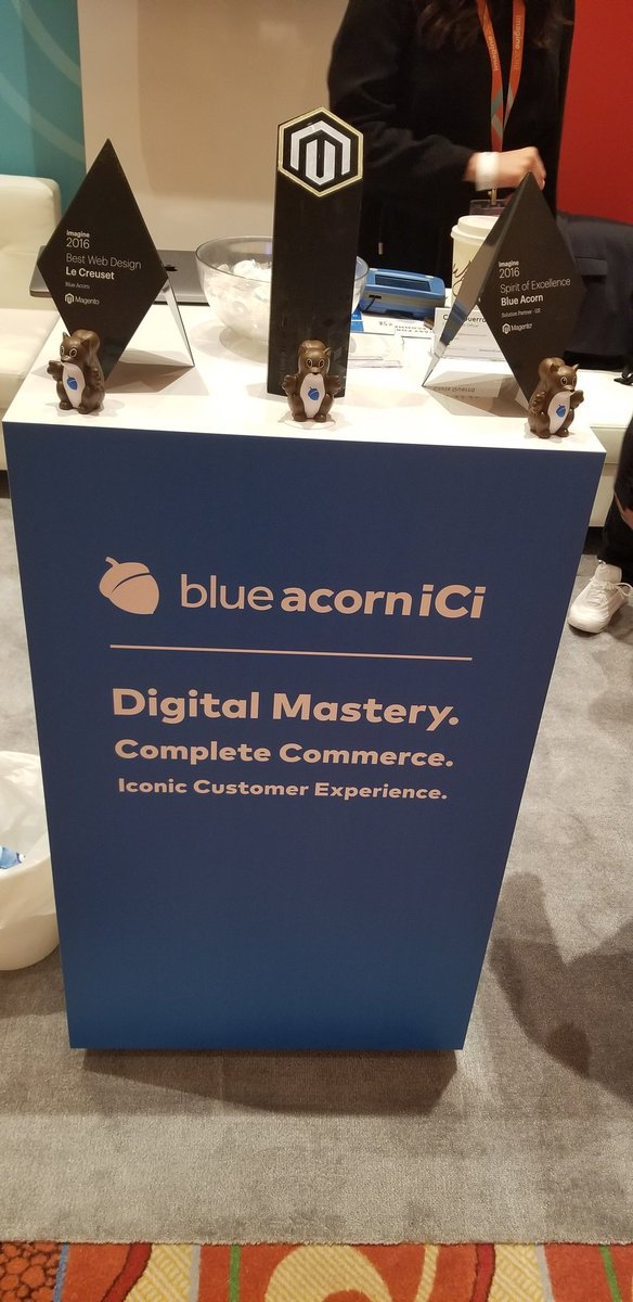 RubioAdrianaL: We are ready to kickoff #MagentoImagine! Stop by booth 122 and meet the @blueacornici team #RoadToImagine https://t.co/IayrncqBW6