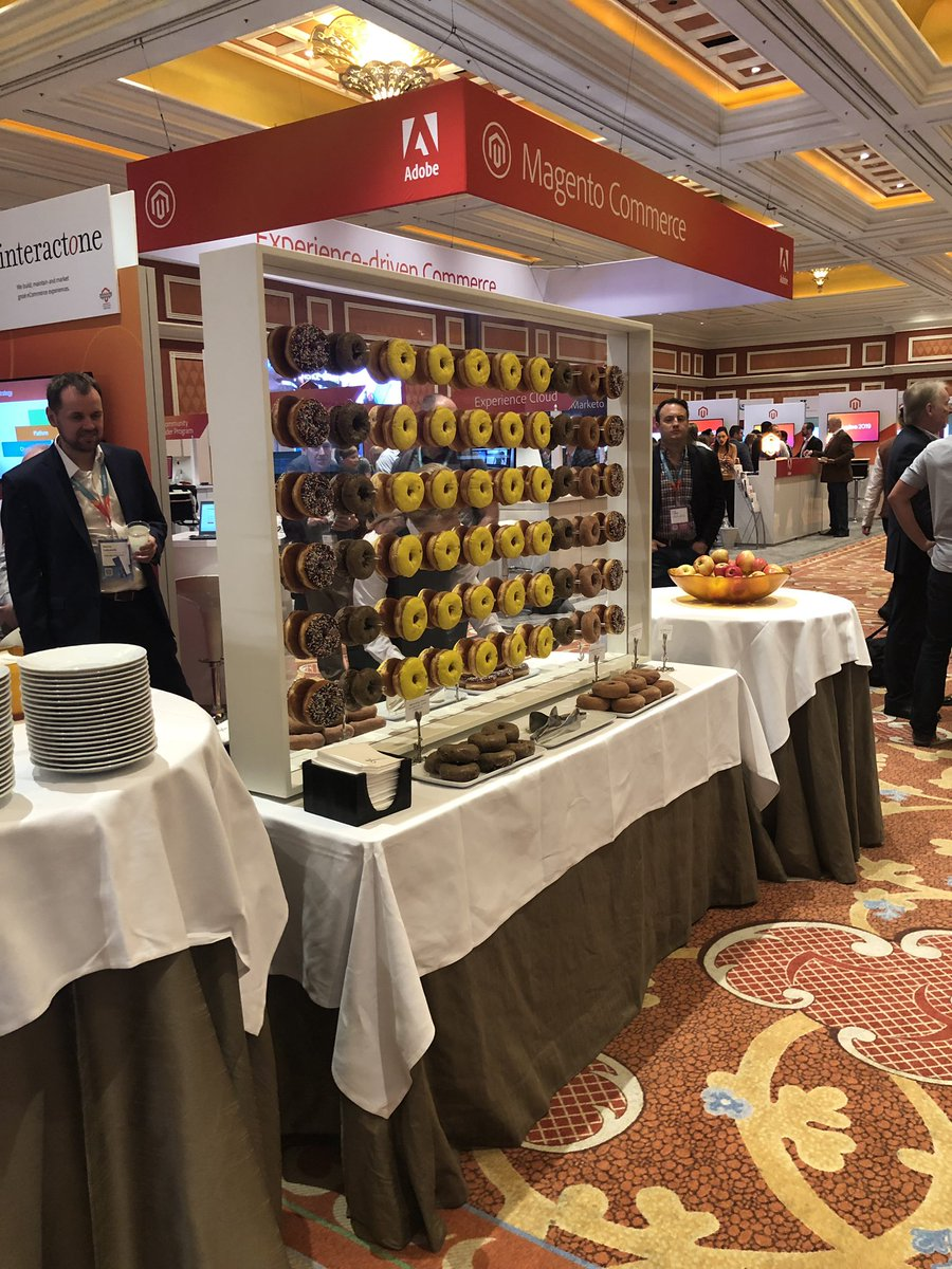 ztechus: We are next to the epic donut display. Booth 511. #bestboothplacementever #MagentoImagine https://t.co/Cpiwo6n7kQ