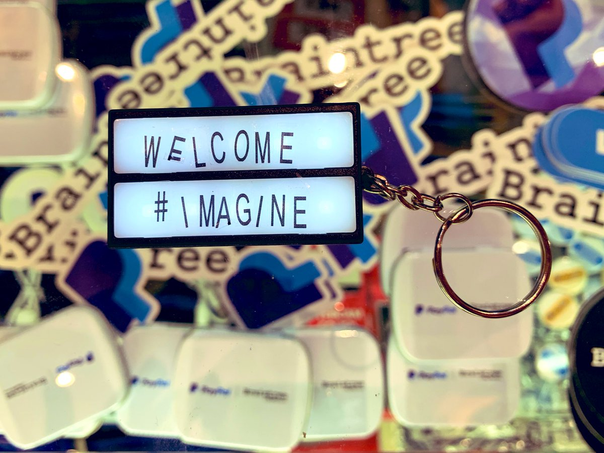 LaurenMayGould: Stop by @paypal4business booth #406 for a marquee keychain you can personalize (and other good swag) #MagentoImagine https://t.co/OFWMDZ6pwF