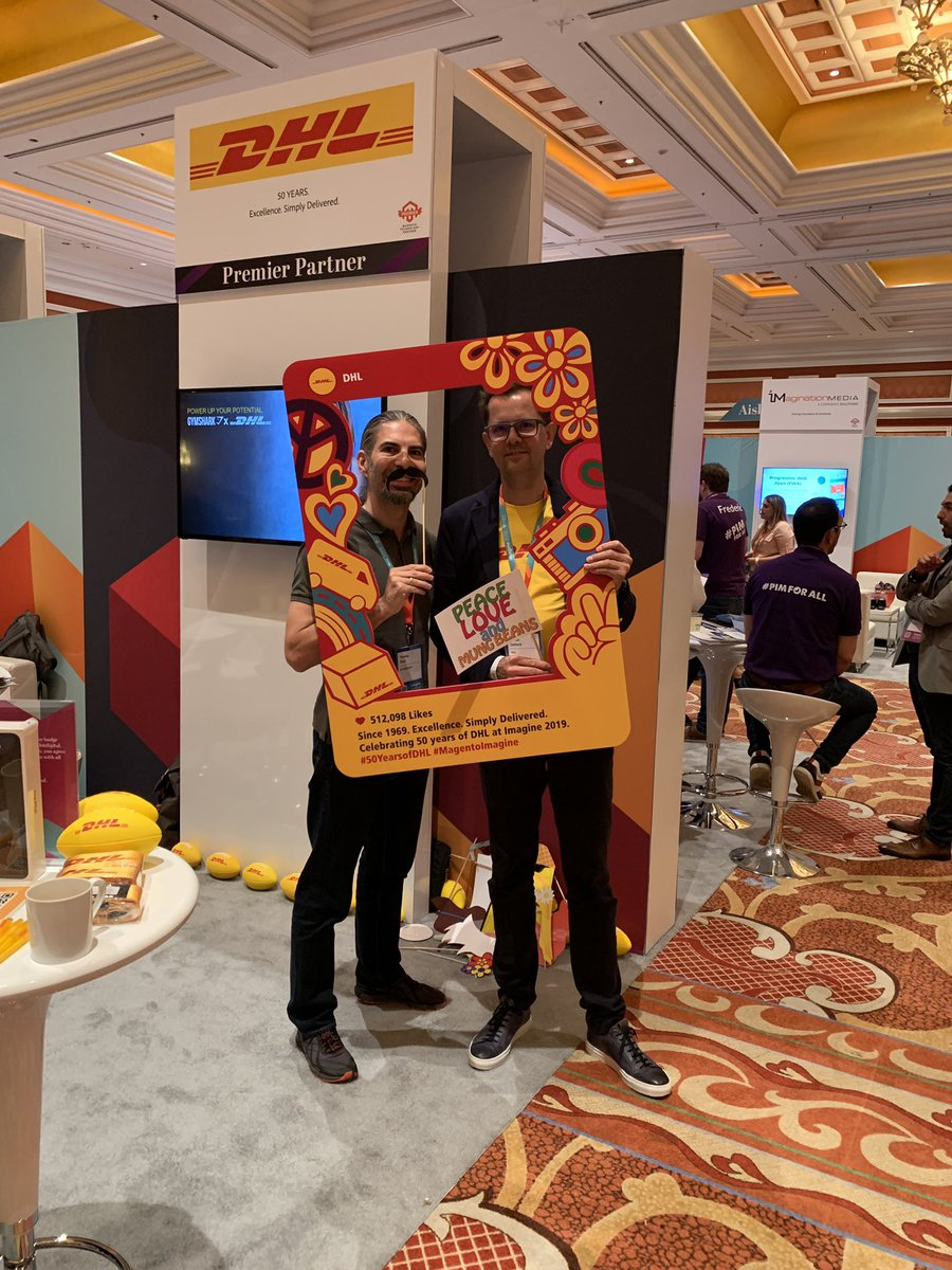 fendi911: #50yearsofDHL - celebrations at #MagentoImagine | thanks DHL for being a great customer and partner https://t.co/9GrQ45nMGD