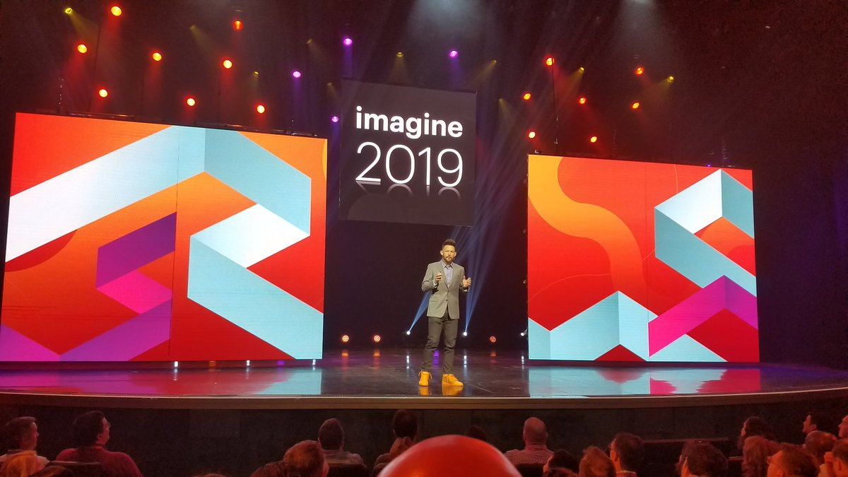 MissDestructo: At the #MagentoImagine keynote with the #AdobeInsiders group. #reunited https://t.co/WKjx1LfDNV