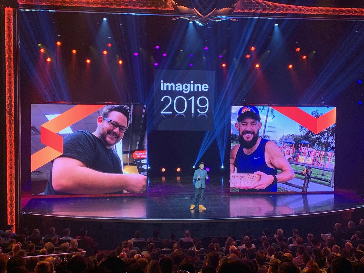 brentwpeterson: Half of @philwinkle is on the stage #MagentoImagine #adobeinsider LOOKS GREAT! (He looked great before too) https://t.co/ScMT6EFpzZ