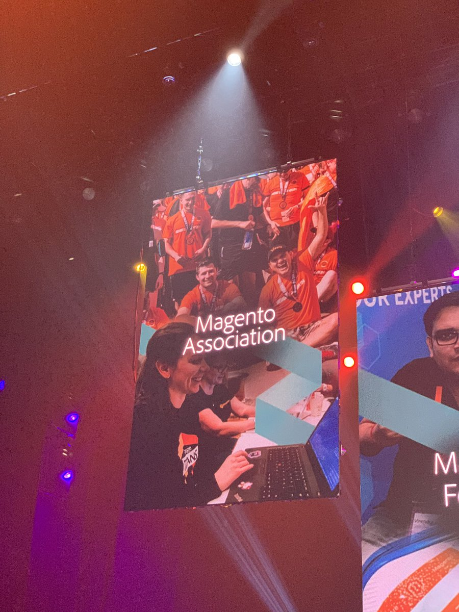 di_pola: Shout out to the @magentoassoc by @gspecter at #MagentoImagine https://t.co/JdMsViW7nV