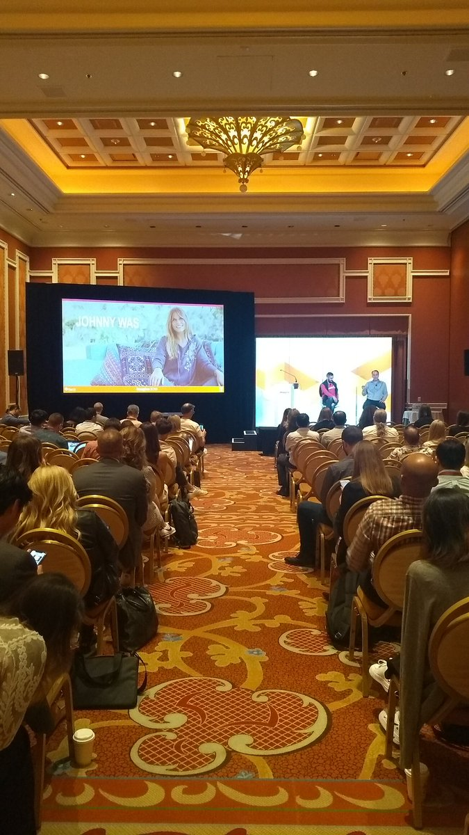 Stefvanef: Enjoying the presentation with @NostoSolutions and @johnnywasdotcom at #MagentoImagine this morning. https://t.co/xuU4by5Ot9